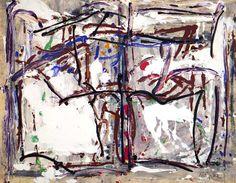 """Jean Paul Riopelle, Sans titre (Série Sainte-Marguerite), circa 1975-1979, Acrylique sur papier, 20"""" x 26"""""""