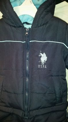 785f5aa92156 U.S. Polo Association Infant Snow Suit Removable Mittens Bottom 0-9 Months  USPA  USPoloAssn