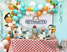 Custom Backdrop Upgrade, Made To Match or Add Customization To Your Party Backdrop, Digital File Only - Etsy - Birthday Party 5th Birthday Party Ideas, First Birthday Parties, Birthday Party Decorations, 2nd Birthday, First Birthdays, Birthday Centerpieces, Craft Party, Octonauts Party, Minnie