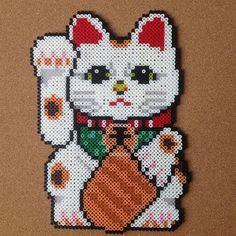 Animals - Lucky Cat Maneki-neko perler beads by tsubasa.yamashita