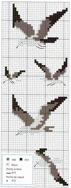 Seagulls Birds Cross Stitching Maritime Nautical Beach
