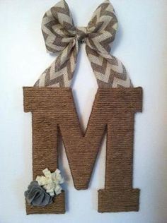 Chevron and twine letter by jodie