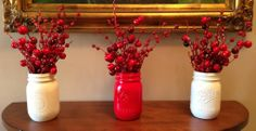 Use mason jars in your Christmas decorating when you make these great Christmas centerpieces. This jar craft is perfect for your Christmas decorating. You can make this simple handmade Christmas decoration with just a few materials.