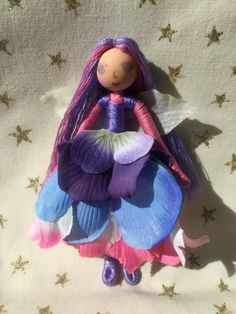 5 Tall Flower Fairy Doll My name is Spring Fairy by Woodlandolls