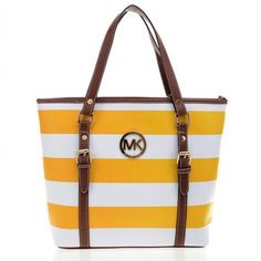 Michael kors outlet,Press picture link get it immediately!not long time for cheap Mk Handbags, Handbags Michael Kors, Michael Kors Sale, Mk Bags, Medium Tote, Travel Tote, Milan Fashion Weeks, Mellow Yellow, Stripes