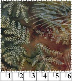 Dark Green Leaf Batik by Galaxy Fabric, Cotton Batik Fabric, Quilting Fabric by the Yard