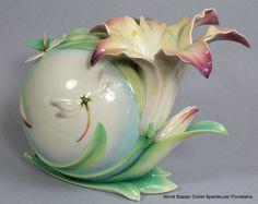 FZ02776 Franz Porcelain Lily Dragonfly MID Vase Edition NEW Intro | eBay