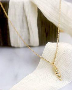 Timeless Diamond Necklace – Lacee Alexandra Jewelry Solid Gold Jewelry, Diamond Jewelry, Teardrop Necklace, Bridal Jewelry, Gold Necklace, Just For You, Modern, Creative Design, Jewelry Ideas