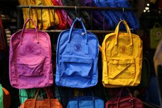 Recycled fabric Fjallraven Kanken backpack NEON Clothing Toronto