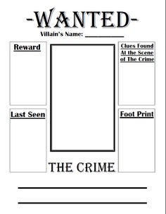 Fairy Tale Wanted Poster