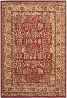 Safavieh Mahal MAH697A Red and Natural Area Rug | Bold Rugs