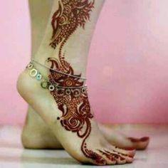 Cool feet mhendi design