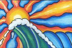 ratster surf tiki beach woody woodie surf art hot rod paradise von dutch posca rat fink sand dollars