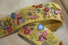Custom Guitar Strap for professional singer Kaley Caperton by Anne Davies