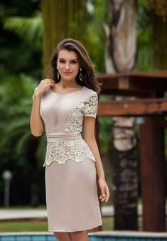 Best 12 So what if it's 2014 styling – I could do without the peplum – just my personal preference – SkillOfKing. Dress Outfits, Casual Dresses, Short Dresses, Fashion Dresses, Formal Dresses, Pretty Dresses, Beautiful Dresses, Lace Dress, Dress Up