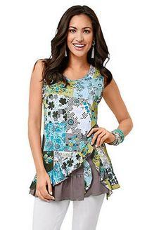 027bd07a63087 WITT International Sleeveless Print Top Green Size 40 LF086 EE 05  fashion   clothing