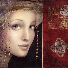 Csaba Markus  hungarian_artist Romanticism Artists, Symbolic Art, Acrylic Painting Lessons, Fashion Design Drawings, Mandala, Woman Painting, Various Artists, Pictures To Draw, American Artists