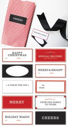 Classic Christmas Tags   51 Seriously Adorable Gift Tag Ideas
