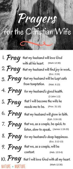 Find out how to strengthen your marriage today by praying for your husband with 10 specific prayers to bless him and strengthen your relationship.
