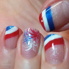 Independence Day! Nail art by Heather Jenkins