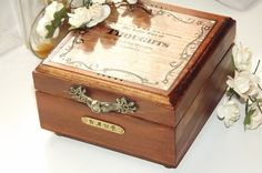 My Little Box of THOUGHTS. Write and Store by DAWNaffirmationBoxes