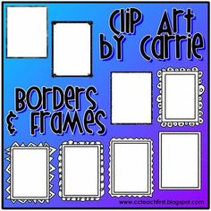 Included are 8 Black and White Borders and Frames for you to use to create items for your classroom and for commercial resale.  Please read TOU at ...