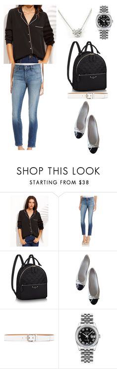 """""""A135"""" by apriljoybb ❤ liked on Polyvore featuring J Brand, Chanel, Calvin Klein Jeans, Rolex and Tiffany & Co."""