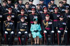 Queen Elizabeth II visits the Corps of Royal Engineers at Brompton Barracks in Chatham Kent on their anniversary. Chatham Kent, Royal Diary, Royal Engineers, Brompton, Anniversary Photos, Save The Queen, Queen Elizabeth Ii, Coat Dress, Duke And Duchess