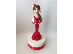 Flamenco dancer fondant #Cake #flamenca