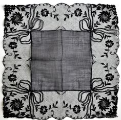 Black Lace Mourning Handkerchief