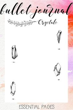 Essential Pages Printable PDF A4 Gratitude Affirmations Crystals Year in Pixel Habit Tracker Daily and Weekly Log