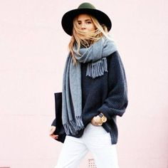 How to wear a big scarf / Inspiration style : 3 looks signatures de la parisienne Rive Droite