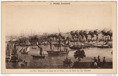 Nantes ancestral; le port de mer, le quai de la Fosse, vus de la pointe de l'Ile Gloriette, vers 1830