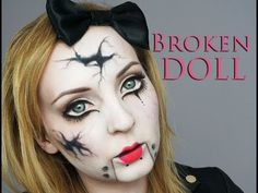 BROKEN DOLL Make Up Transformation - YouTube