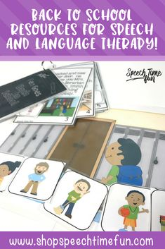 Keep your speech and language students engaged and motivated with back to school themed resources to work on articulation, syntax, sentence structure, wh questions, auditory comprehension, inferencing, vocabulary, and more! Activities for mixed groups too! #backtoschool #speechtherapy