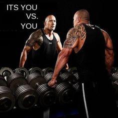 "Hey You! Yes You! Stop saying 'I Wish' ans start saying 'I Will' "" #DwayneJohnson #Fitness"