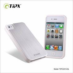 Tipxcase - Carcasa para iphone 4/4s. Alusxo collection. Color plata de Tipxcase, http://www.amazon.es/dp/B00GWL5NAS/ref=cm_sw_r_pi_dp_I2Eatb0PSYNFC