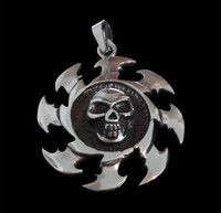 New Listing Started Stainless Steel Sawblade Skull Pendant NZ$39.00