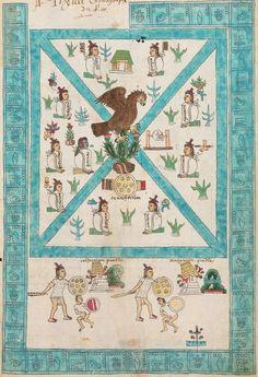 Foundation of Mexico-Tenochtitlan, the Aztec capital, in 1325, as depicted in Codex Mendoza. You can find the entire Codex Mendoza in http://www.codicemendoza.inah.gob.mx/inicio.php?lang=english  Fundación de Mexihco-Tenochtitlan, la capital mexica, en 1325, como se representa en el Códice Mendoza.