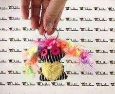 Neeno, Mini keychain, Chubbee Doll, Plush Stuffed Creature, Handmade, Kawaii by LondonsKingdom on Etsy