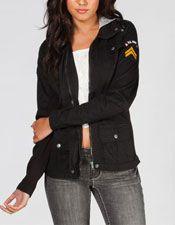 ASHLEY Womens Twill Military Jacket 228542100   Jackets   Tillys.com