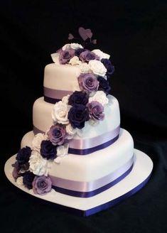 Kuchen Ideen :) Heart shaped wedding cakes - # Is It Really Teak Wood? 3 Teir Wedding Cake, Purple Wedding Cakes, Beautiful Wedding Cakes, Gorgeous Cakes, Wedding Cake Designs, Wedding Cupcakes, Wedding Ideas, Pretty Cakes, Amazing Cakes