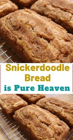 Snickerdoodle Sweet Bread – the perfect recipe for all cinnamon lovers! So, are you a connoisseur who's always looking forward to trying out innovative cinnamon recipes? If yes, then this particular recipe will be so appropriate Cinnamon Recipes, Baking Recipes, Cake Recipes, Dessert Recipes, Bread Recipes, Cinnamon Bread, Köstliche Desserts, Delicious Desserts, Yummy Food