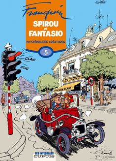 The art of Franquin was masterful in fifites and sixites. His Spirou & Fantasio comics are the best examples of the Franco-Belgian Atomic style.