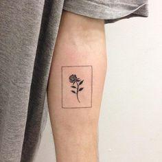 Flower, minimalist, arm tattoo on TattooChief.com