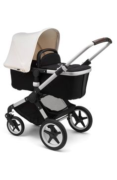 Fox Complete Stroller, Main, color, Fresh White/ Aluminum