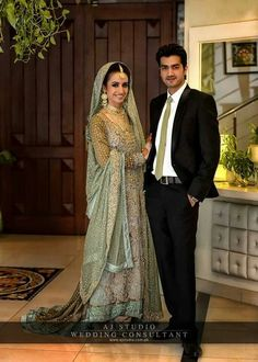 Pretty in green. Pakistani and Indian Wedding Fashion Dress.