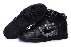 best website 0ad6d 37e3b Nike Dunk High Womens Schwarz Grau Black Black And White Tops, New Jordans  Shoes,