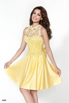 Charming Sweetheart Short Yellow Satin Party Prom Dress With Lace Jacket fee1732c5024