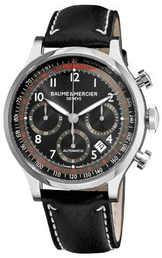 10001 Baume & Mercier Capeland Black Swiss Automatic Chronograph Mens Watches Sale. Best Prices Online - Buy and Save Now! Authenticwatches.com